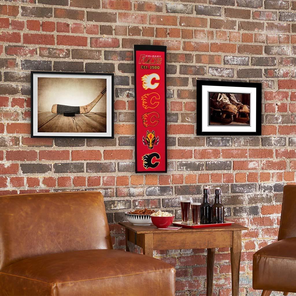 Calgary Flames/™ 8 x 32 Premium Wool Heritage Banner