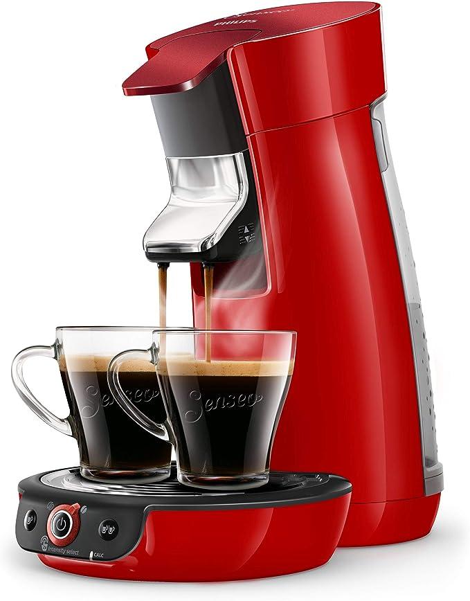 Philips hd6564/81 cafetera eléctrica, rojo brillante: Amazon.es: Hogar