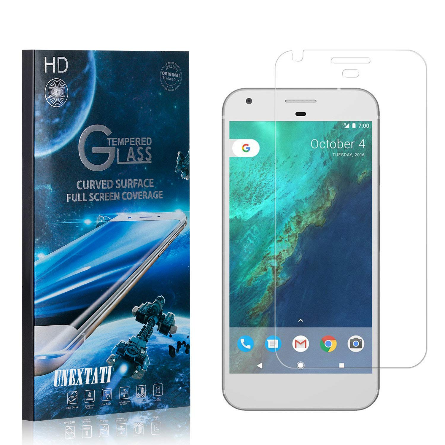 Tempered Glass Screen Protector Compatible with Google Pixel XL UNEXTATI Premium HD Anti Fingerprint Screen Protector Film for Google Pixel XL 4 Pack