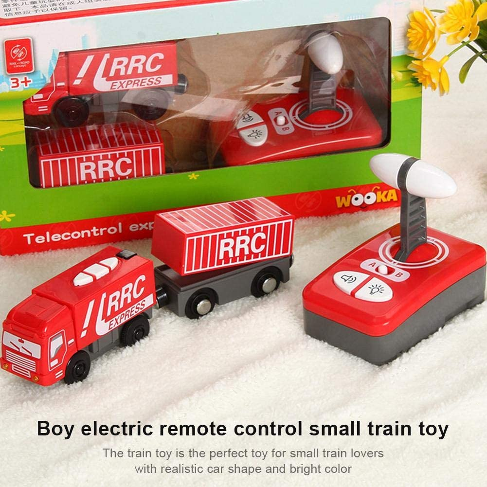 Remote Control Engine Train,Kid Electric Magnetic Train Toy Locomotive Plaything,Fit for Thomas Wooden Track,Present Gift for Children Boys Toys