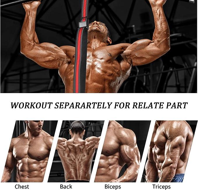 Banda de asistencia para dominadas, bandas de resistencia elásticas para levantamiento de potencia con asa de pie para mejorar la fuerza de brazo, ...