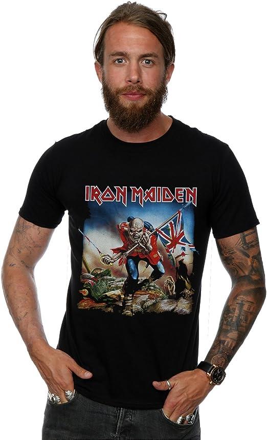 Iron Maiden hombre The Trooper Camiseta XX-Large Negro: Amazon.es: Ropa y accesorios