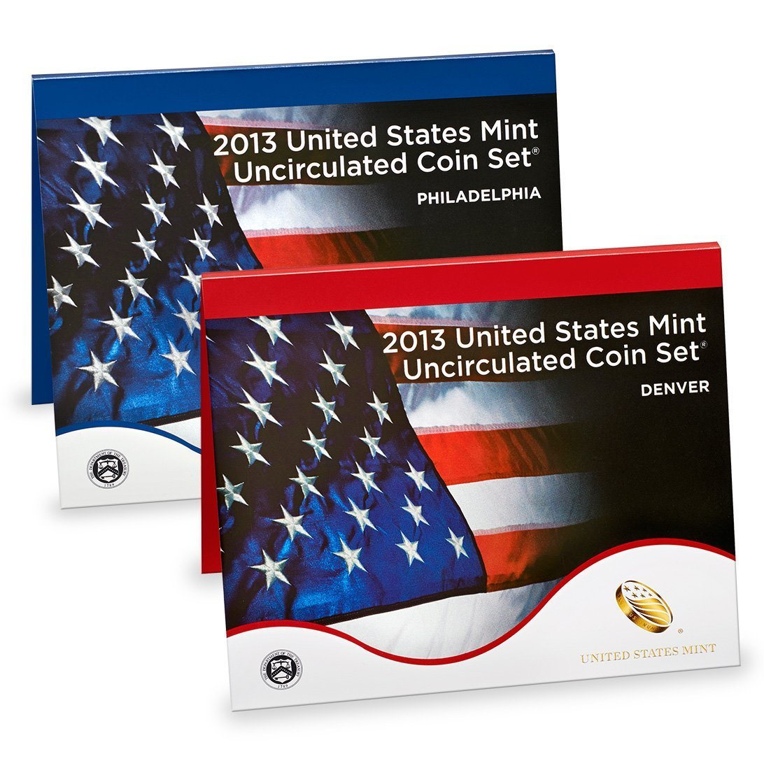 2013 United States Mint 28-Coin P&D Uncirculated Mint Set OGP Brilliant Uncirculated