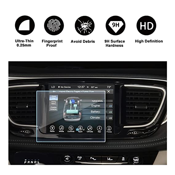 2016 2017 2018 Chrysler Pacifica Uconnect Display Navigation Screen  Protector, HD Clear TEMPERED GLASS Screen Guard Shield Scratch-Resistant  Ultra HD