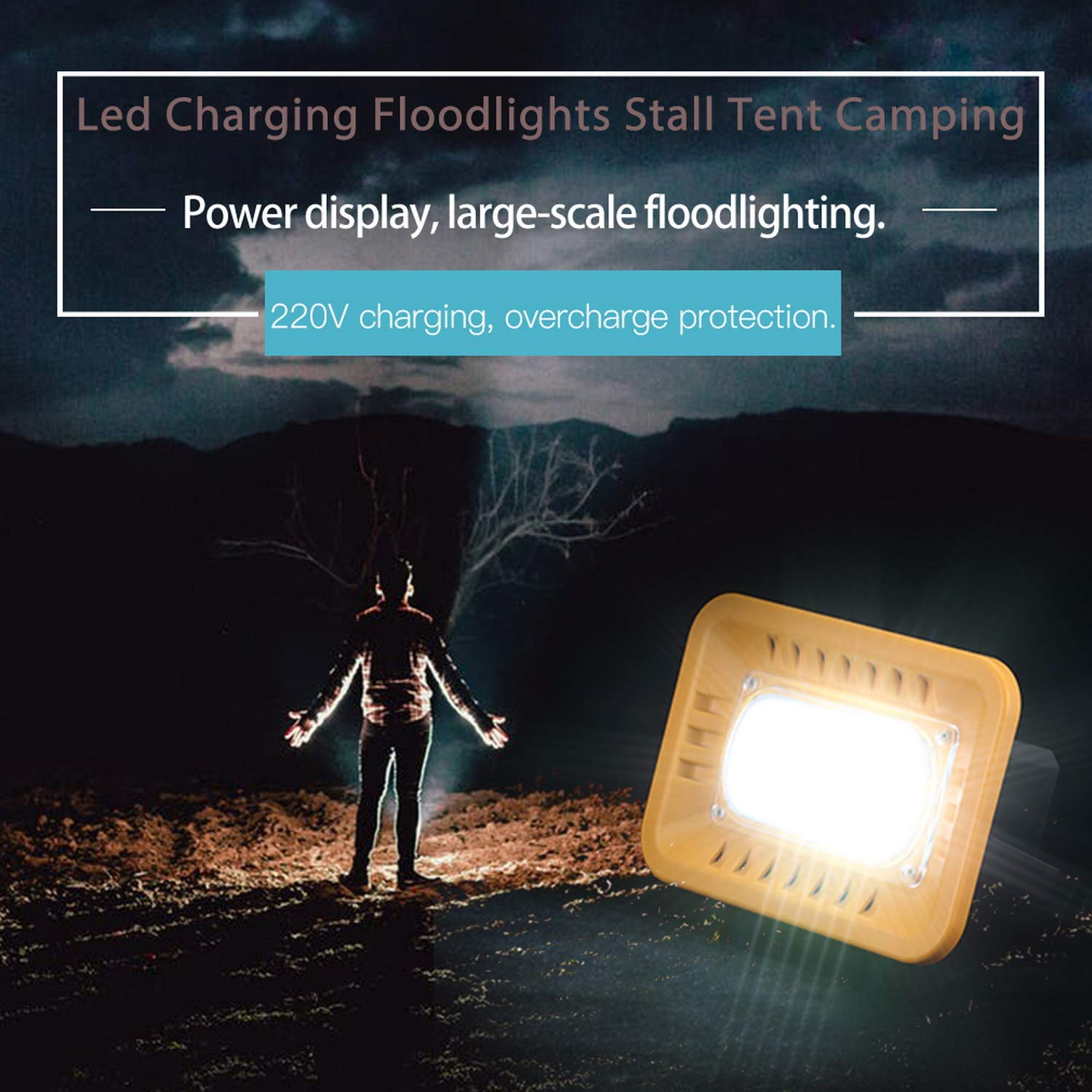 Foreverharbor Led Charging Floodlights Stall Tent Camping Outdoor Portable Home Emergency by Foreverharbor (Image #8)