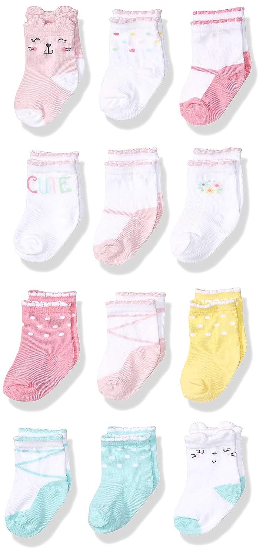 Onesies Brand Baby Girls 12-Pair Crew Sock