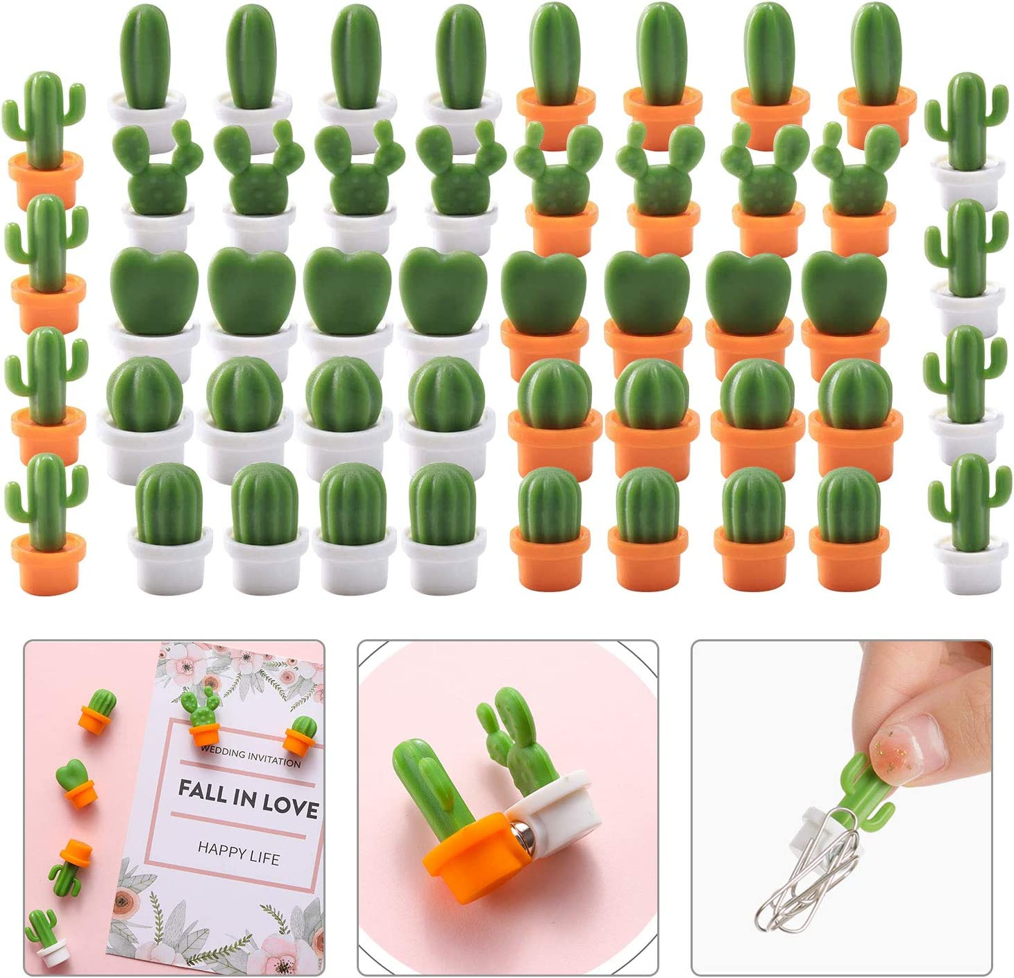 Home Decorative Magnets 12pcs Cute GreenPlanet Cactus Fridge Magnets Refrigerator Locker Magnet Funny Home-Deco for Home House Office Personal Use