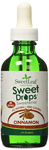 Sweet Leaf Liquid Stevia Sweetner, Cinnamon – 2 oz – Liquid