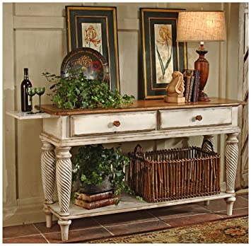 Hillsdale Furniture 4508SB Wilshire 35u0026quot; Long Sideboard With 2 English  Dovetail Drawers Bottom Shelf And
