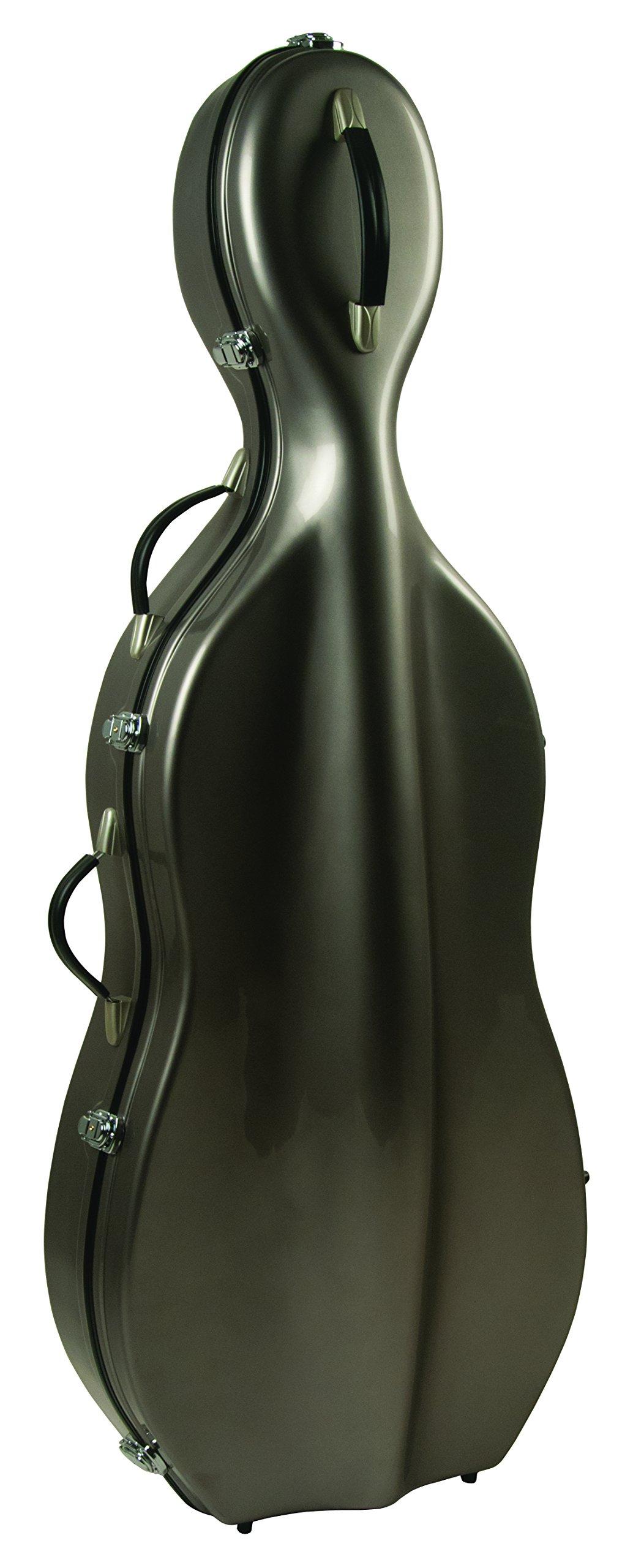 Guardian CV-065-CGY Fiberglass Cello Case, Grey