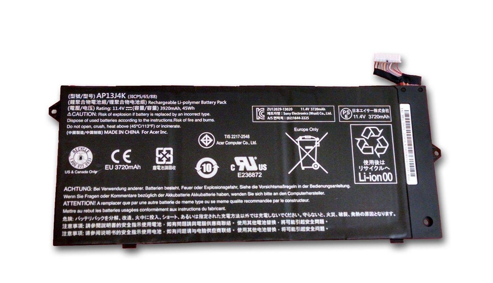 Bateria Dentsing Ap13j3k Para Acer Chromebook C720 C720p Ap13j4k