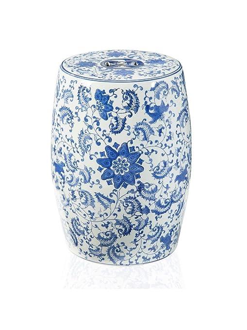 Taburete Diseo.Montemaggi Dise O De 33x33x45cm De Flores De Porcelana