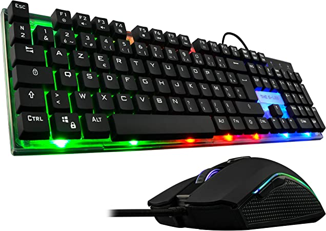 The G-Lab Combo Zinc/SP Pack de Teclado Gaming USB y Ratón Multicolor Retroiluminación – Teclado Gaming QWERTY: The: Amazon.es: Electrónica