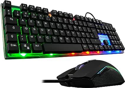 The G-Lab Combo Zinc/SP Pack de Teclado Gaming USB y Ratón ...