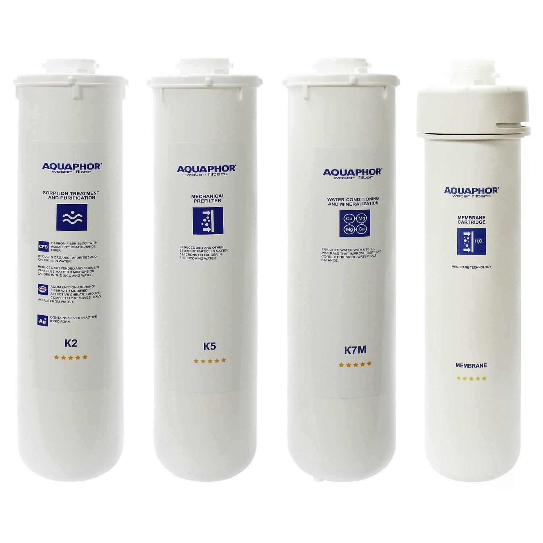Aquaphor RO-101 Full Set of Replacement Filters K5 K2 K7M RO Membrane