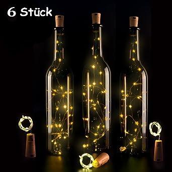 Lampe Aus Flaschen 15led Lichterkette Batterie Hochzeit Deko Licht