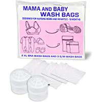 5 Ultra Premium Wash Bags - An Incredible Bra Wash Bag + 4 Premium Fine Mesh Wash Bags (Double Stitched w/Quality Zipper) for Laundry, Bras, Delicates, Clothes, Underwear, Blouse and Travel Storage