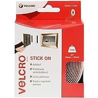 VELCRO® Brand Stick On Tape - 20mm x 2.5m, White