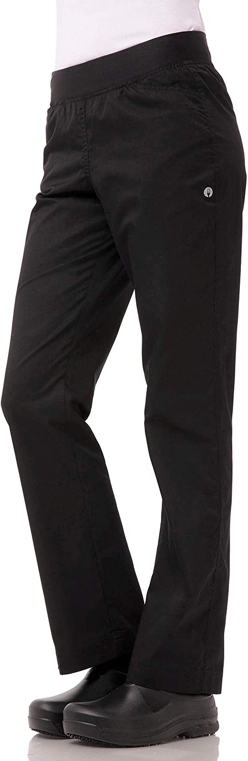 Chef Works Women's Lightweight Slim Fit Pants