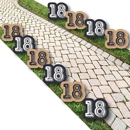 Amazon.com: 18th Cumpleaños Milestone – Tiempo para adulto ...