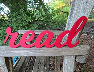 CELYCASY Read Sign,Read,Reading Nook,Classroom Decor,Teacher Gift,Wood Sign,Home Decor,Library Sign,Nursery Decor,Classroom,Sign,Read Banner,Library