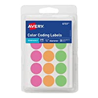315-Ct Avery Round Color Coding Labels, 0.75 Inch, Assorted Deals