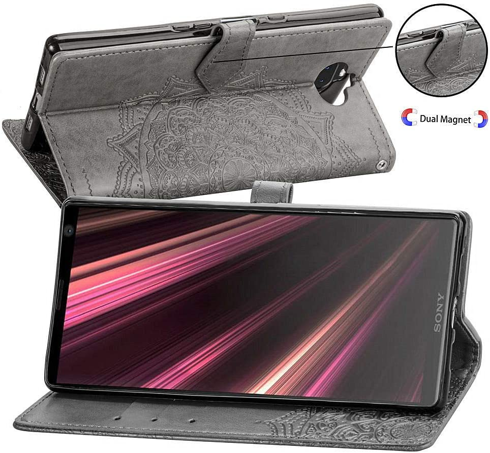 LOSDA021168 Blau Lomogo Xperia 10 Plus H/ülle Leder Schutzh/ülle Brieftasche mit Kartenfach Klappbar Magnetisch Sto/ßfest Handyh/ülle Case f/ür Sony Xperia 10 Plus
