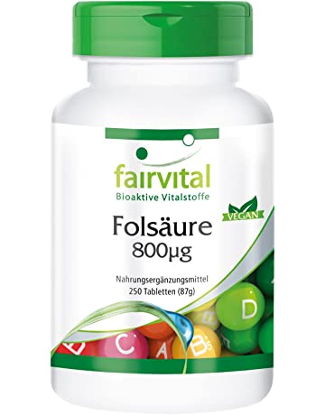 Acide folique 800mcg - 250 comprimés - vitamine B9 hydrosoluble (acide  folique) - substance f77e168496c