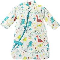 TOOGOO Unisex Baby Sleepsack Wearable Blanket Cotton Sleeping Bag Long Sleeve Nest Nightgowns Thickened Winter Dinosaur/3.5 Tog M