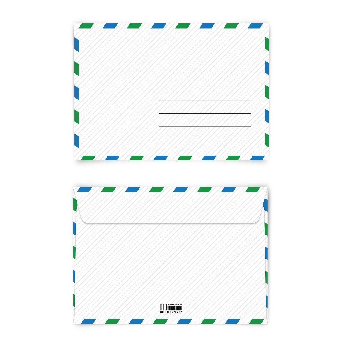 Briefumschläge (100 Stück) DIN-C6 - Polizeivorladung Briefumschlag Polizei Vorladung mit Motiv KuGrün selbstklebend B00N4TPBBW   Großartig