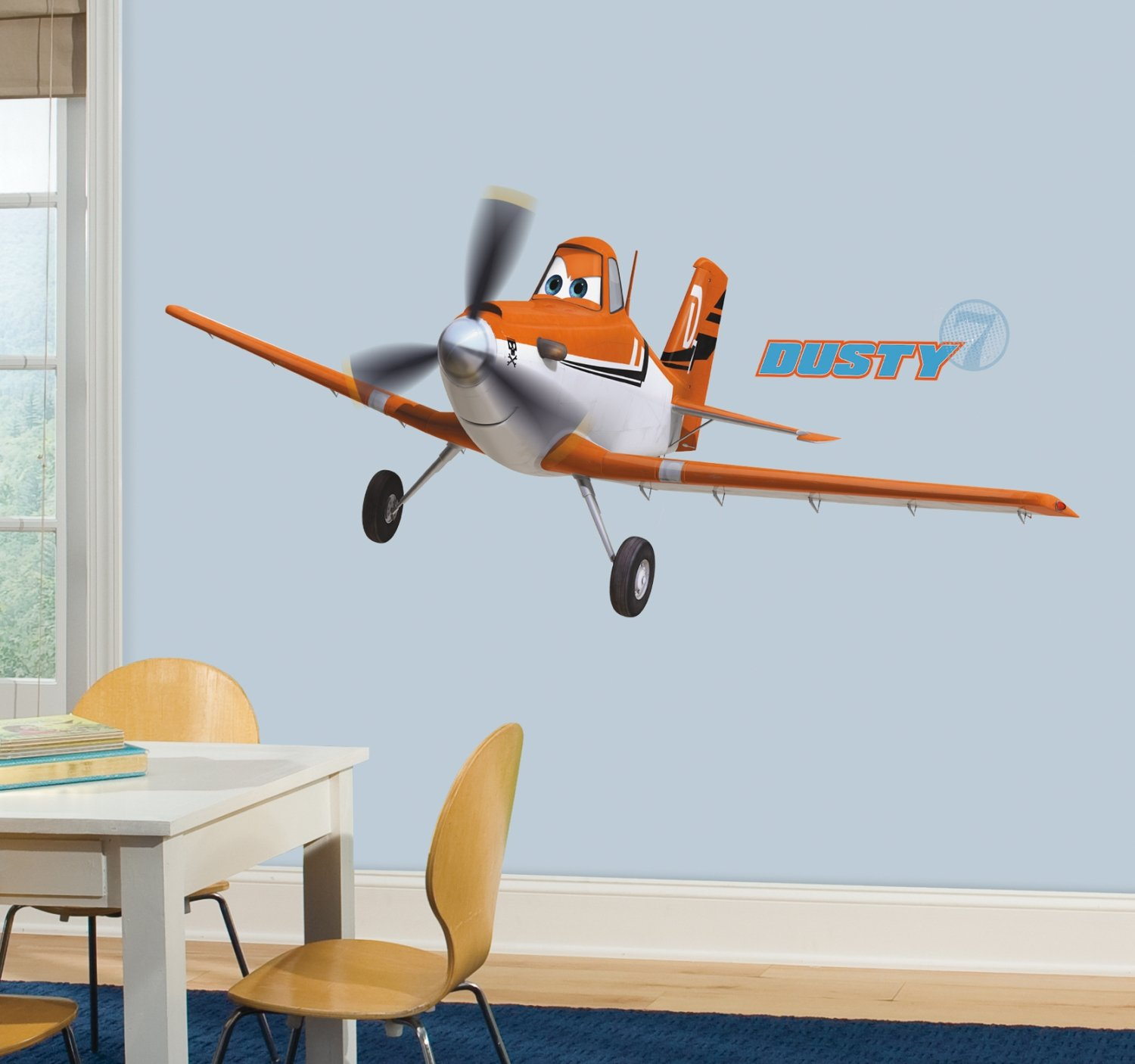 Amazon roommates rmk2289gm planes dusty crophopper peel and amazon roommates rmk2289gm planes dusty crophopper peel and stick giant wall decals 1 pack home improvement amipublicfo Image collections