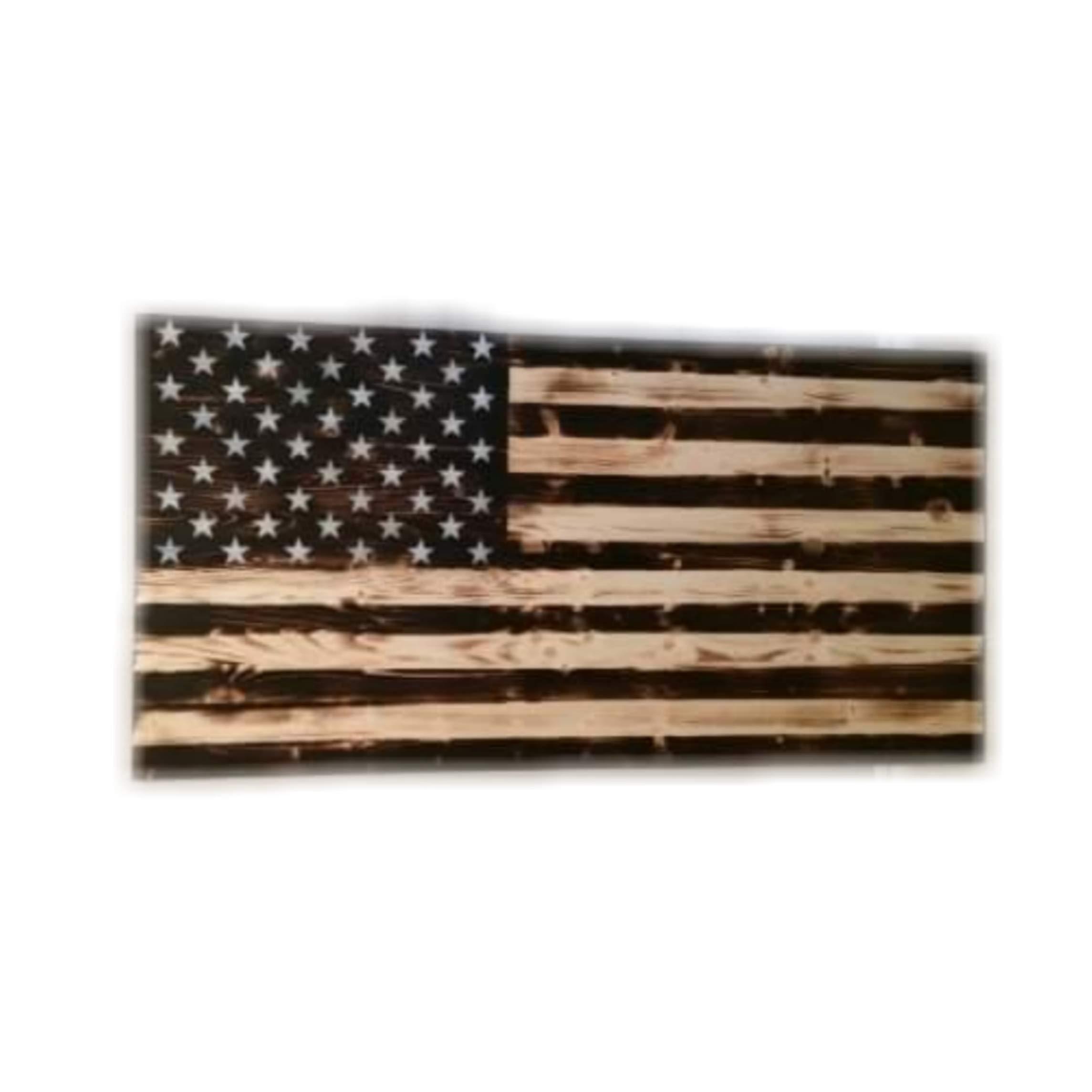 2x3 Pine American Flag Wall Art by Generic