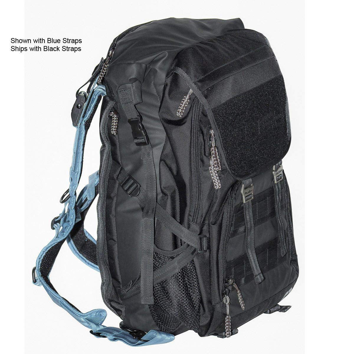 Push Division One Backpack Paintball Gear Bag - Black w/Black Straps