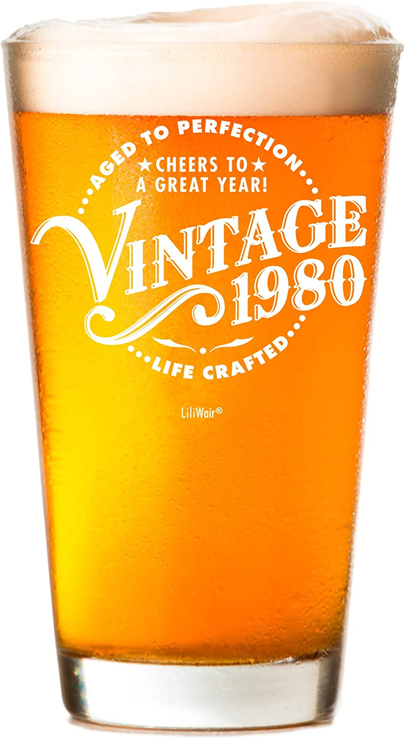 Mom 16 oz Funny Vintage 23 Year Old Pint Glasses for Party Decorations Husband 1997 23rd Birthday Gifts for Men and Women Beer Glass Wife Anniversary Gift Ideas for Dad Best Craft Beers Mug