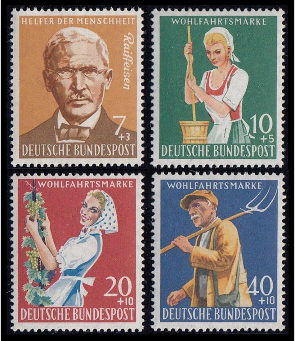 Goldhahn BRD//Berlin 50er-Jahre postfrisch mit Nr 297-300 Briefmarken f/ür Sammler