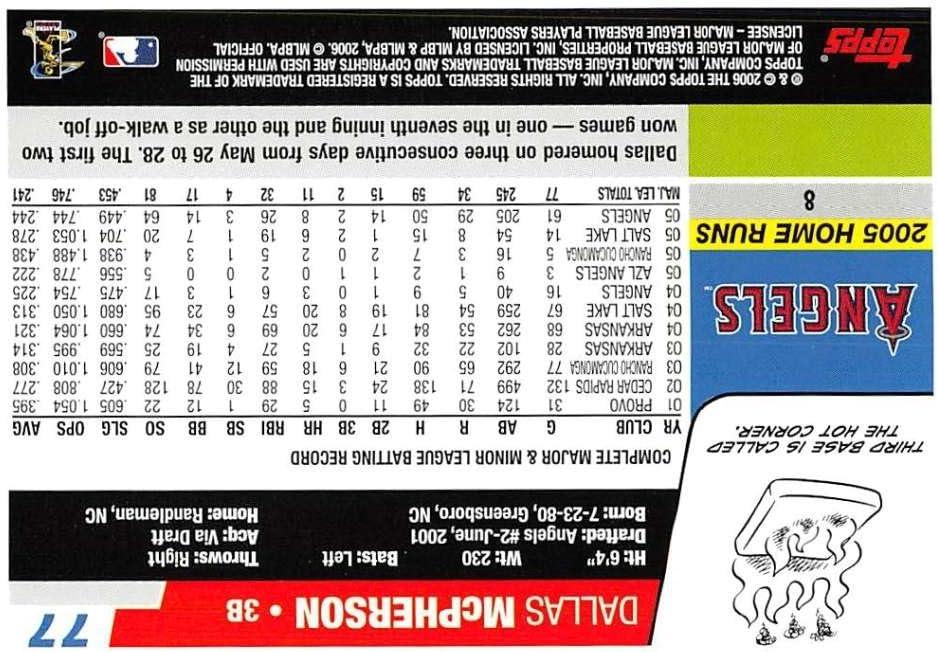 2006 Topps #77 Dallas McPherson NM-MT Angels