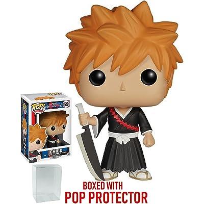 Funko Pop! Anime: Bleach - Ichigo Vinyl Figure (Bundled with Pop Box Protector Case): Toys & Games