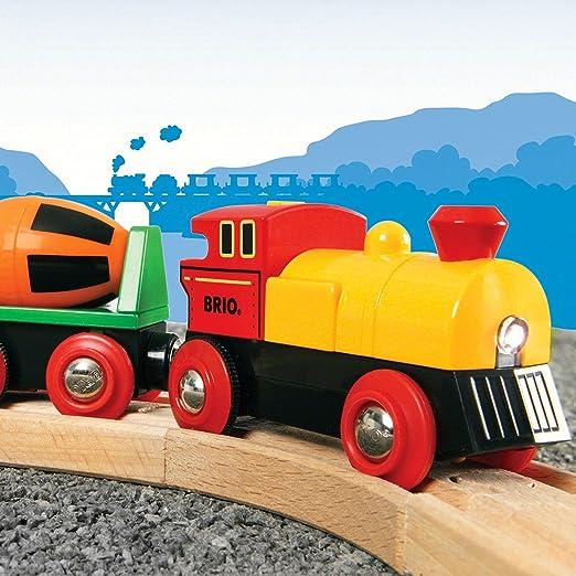 Connexion magn/étique Ensemble de Train de Voyage /à Moteur Puissant Hongjingda Ensemble de Jouets de Train /électrique Ensemble de Train Jouet pour Tout-Petits Train de Locomotive /à Action /à Piles