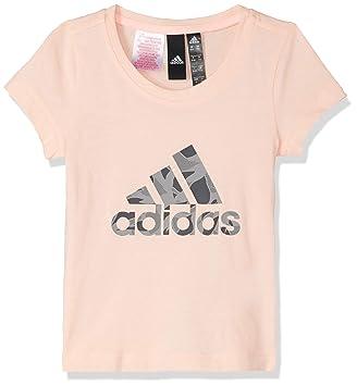 28e6a0940bb26 adidas T-Shirt sans Manches pour Fille M Haze Coral/Grey Heather/Grey