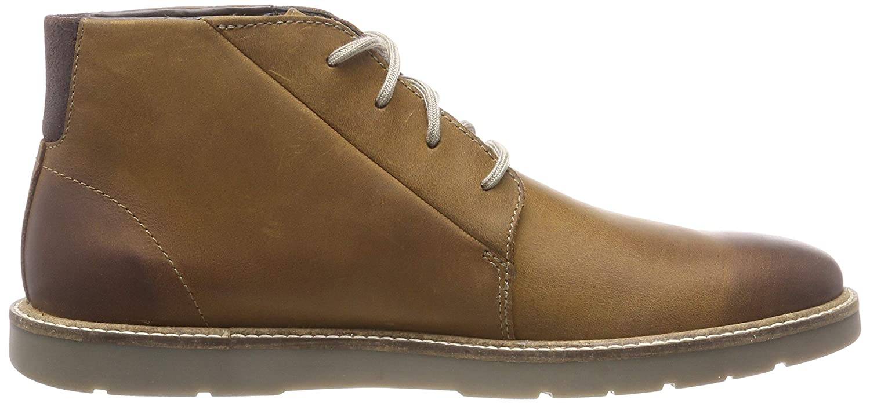 Clarks Herren Grandin Mid Chukka Lea) Boots Braun (Dark Tan Lea) Chukka 81c6a5