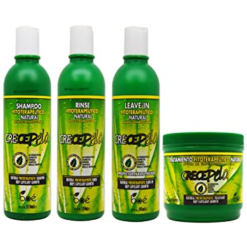 BOE Crece Pelo Fitoterapeutico Natural Shampoo & Rinse & Leave-in & Treatment ...