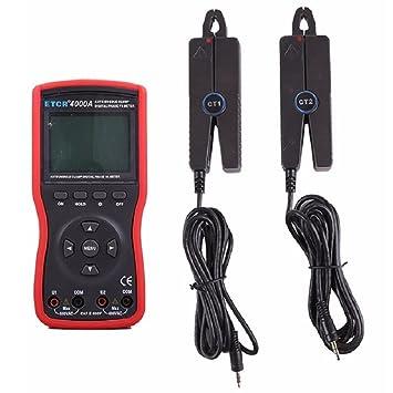 Easy Go Shopping Abrazadera Doble/trifásico Inteligente Abrazadera Doble Fase voltio-Amperímetro Metros ETCR4000A: Amazon.es: Electrónica