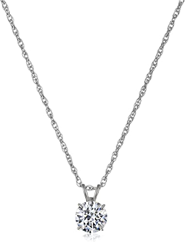 White Gold Diamond Cut Scissor Charm Necklace