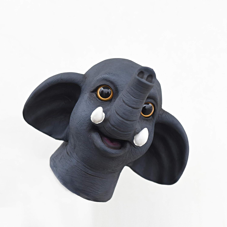 Yolococa Hand Puppet Toys Realistic Latex Animal Elephant Children Toys