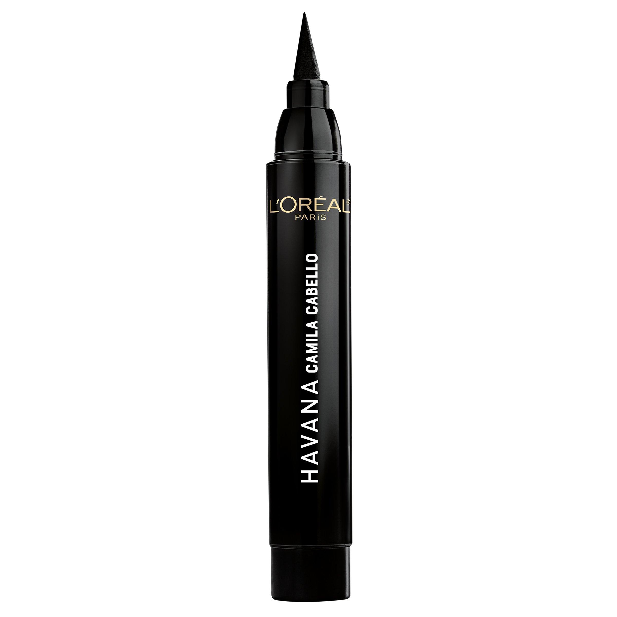 L'Oreal Paris Cosmetics X Camila Cabello Havana Flash Liner Liquid Eyeliner, Black, 0.08 Fluid Ounce