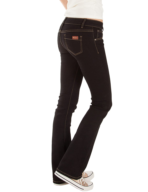 Fraternel pantalon jeans femme bootcut taille basse