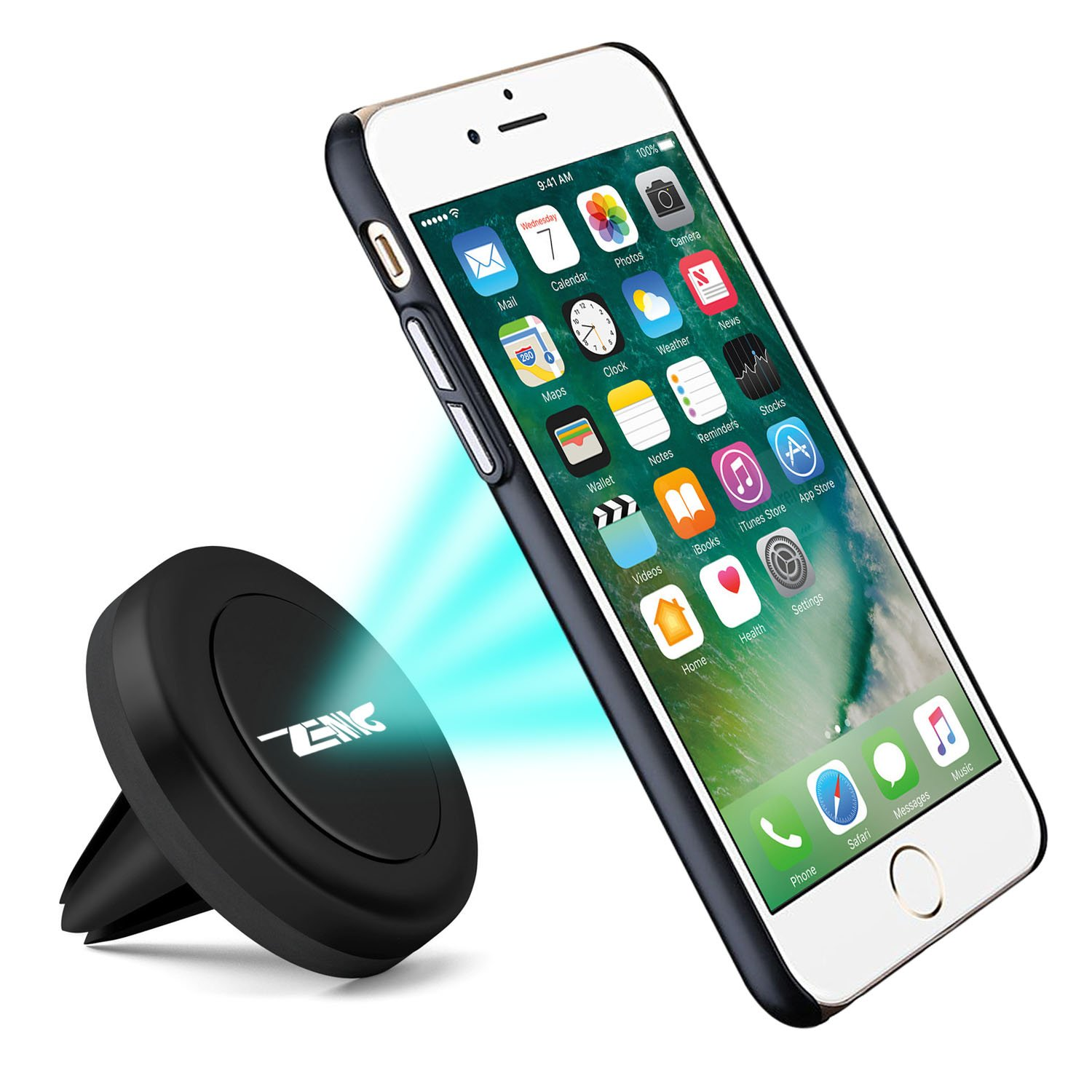 2 Pack LG ... Zenic 2 Pack Air Vent Magnetic Car Mount Phone Holder for Most Mobile Devices including iPhone 4327087034 Samsung Magnetic Car Mount