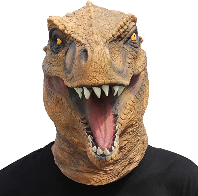 Amazon.com: CreepyParty Novelty Halloween Costume Party Animal Jurassic Head Mask Dinosaur: Toys & Games