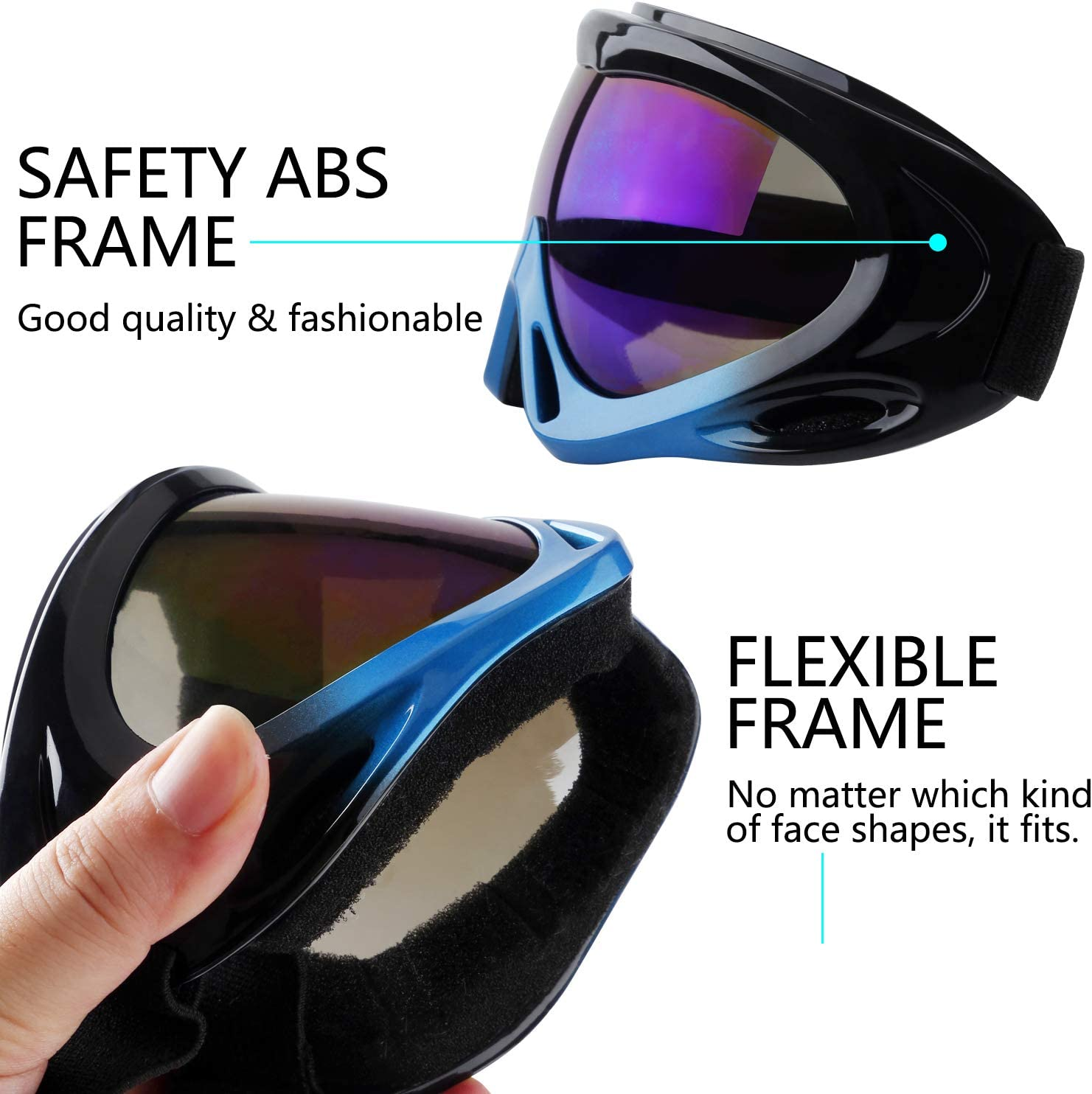 Vetoo Ski Goggles Men /& Women Youth Anti-Glare Lenses Snowboard Goggles for Kids Boys with Protection Boys /& Girls Wind Resistance