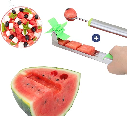 Norpro Stainless Steel Watermelon Cutter Melon Slicer Cutting Serving Tongs